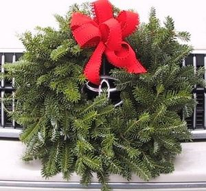 balsam car wreath