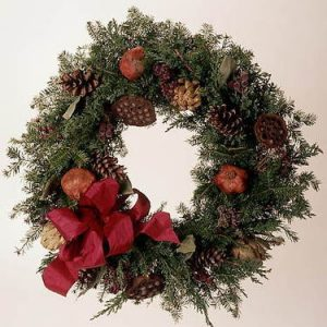 cones and pods wreath
